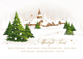 Kartka świąteczna wieloojęzyczna GD-75