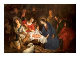 Kartka świąteczna religijna sakralna GD-93
