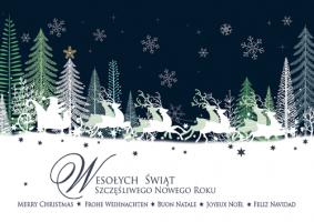 Biznesowa kartka świąteczna w kilku językach  GD-87