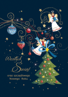 Kartka świąteczna z Aniołami GD-58