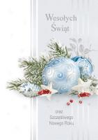 Kartka świąteczna stroik świąteczny PGD-77