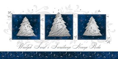 kartka świąteczna z choinkami PLZ 26