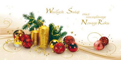 Kartka świąteczna ze stroikiem PLZ 35