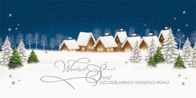 Kartka świąteczna Pejzaż zimowy LZ 80