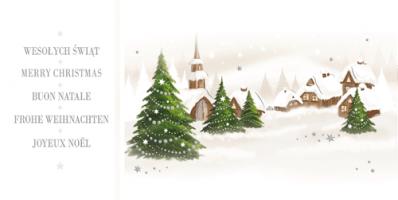 Karnet świąteczny wielojęzyczny LZ 79