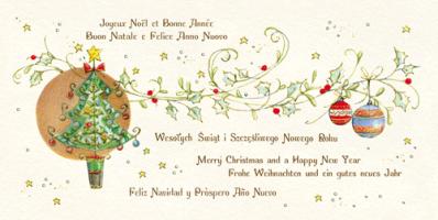 Kartka świąteczna z życzeniami w kilku językach PLZ 21