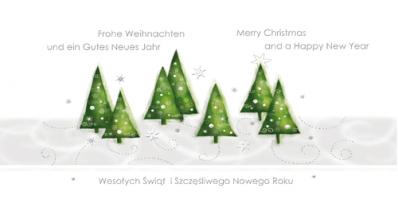 Pejzaż świąteczny z choinkami PLZ 44