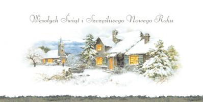 Świąteczny pejzaż zimowy L 974