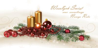 Kartka ze stroikiem świątecznym PL 946
