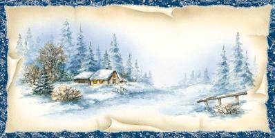 Pejzaż zimowy L 919