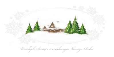 Świąteczny pejzaż zimowy L 978