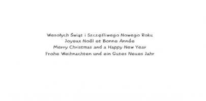 Kartki świąteczne wielojęzyczne L 973