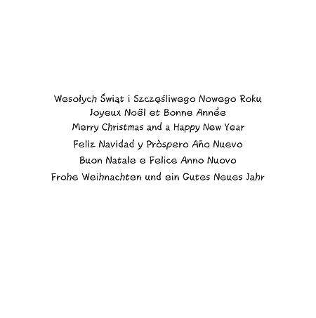 Kartka świąteczna wielojęzyczna S-13