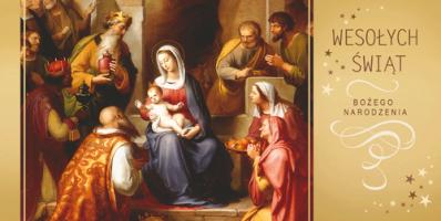 Religijna kartka świąteczna LR 808
