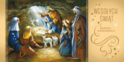 Kartka świąteczna z motywem religijnym LR 807