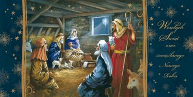Karnet świąteczny religijny LR 803