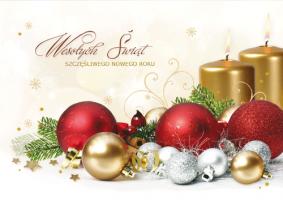 Kartka świąteczna ze stroikiem K 151