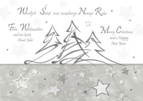 Kartka świąteczna wielojęzyczna K 133