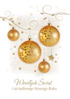 Kartka świąteczna złocona PK 145