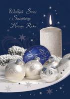 Kartka świąteczna ze stroikiem K 147
