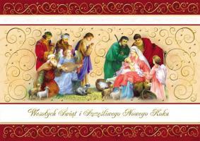 Kartka świąteczna z szopką PKR 03