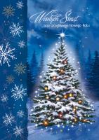 Kartka świąteczna z choinką B 586