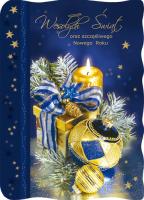 Kartka świąteczna ze stroikiem PB 577
