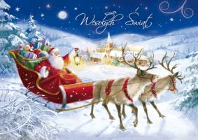 Kartka świąteczna z Mikołajem B 587