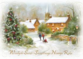 Kartki świąteczne firmowe B 578