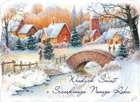 Kartka świąteczna zimowa B 550