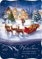 Kartka świąteczna z Mikołajem B 580