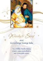 Kartka świąteczna religijna BR 22