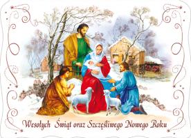 Kartka świąteczna religijna BR 08