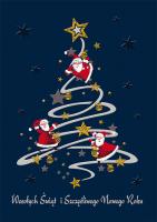 Wesoła, zabawna kartka świąteczna GD 118