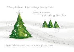 Kartka świąteczna z choinkami K 146