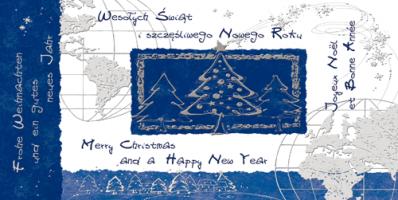 Kartka świąteczna w kilku językach LZ 89