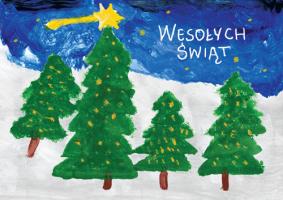 Choinki świąteczne namalowane przez dzieci G 42