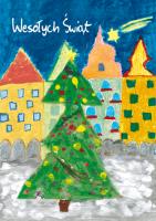 Choinka świąteczna namalowana przez dzieci G 39