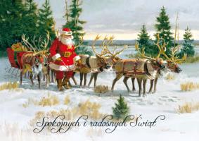 Kartka świąteczna vitage B 595