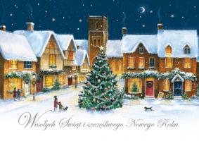 Kartki świąteczne na Boże narodzenie B 594