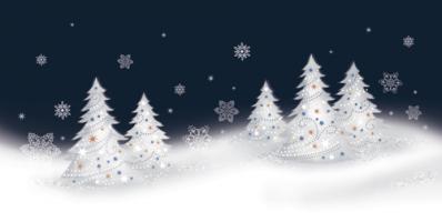 Świąteczny pejzaż zimowy L 994