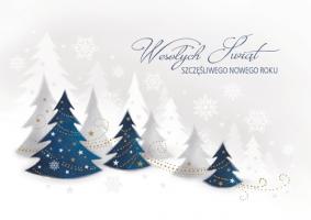Kartka świąteczna pejzaż zimowy GD 102
