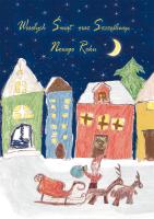 Kartka świąteczna namalowana przez dzieci G 27