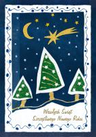 Kartka świąteczna malowana przez dziecko G 30