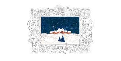 Kartka świąteczna Pejzaż zimowy Lz 92