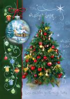 Kartka świąteczna z choinką B 602