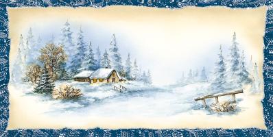 Kartka świąteczna pejzaż zimowy L 1004