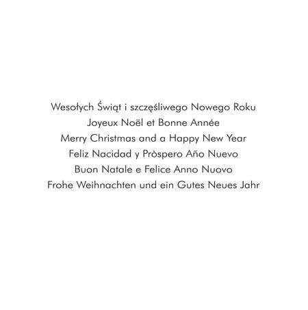 kartka świąteczna wielojęzyczna S-27
